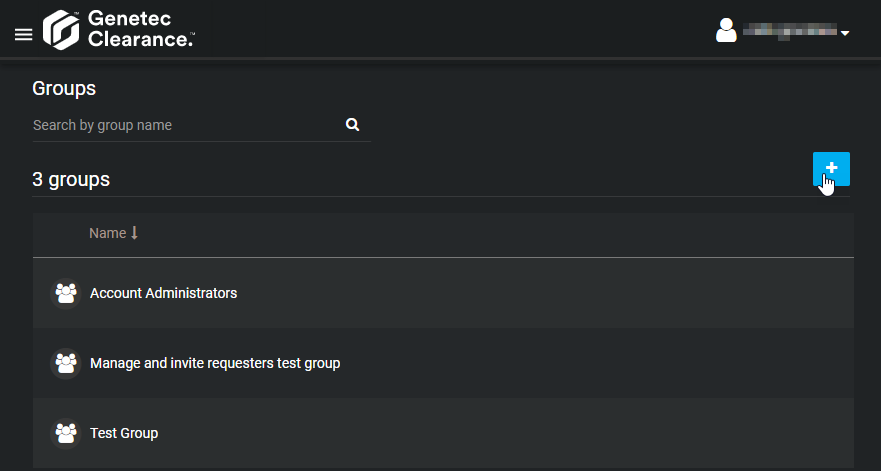 Creating user groups